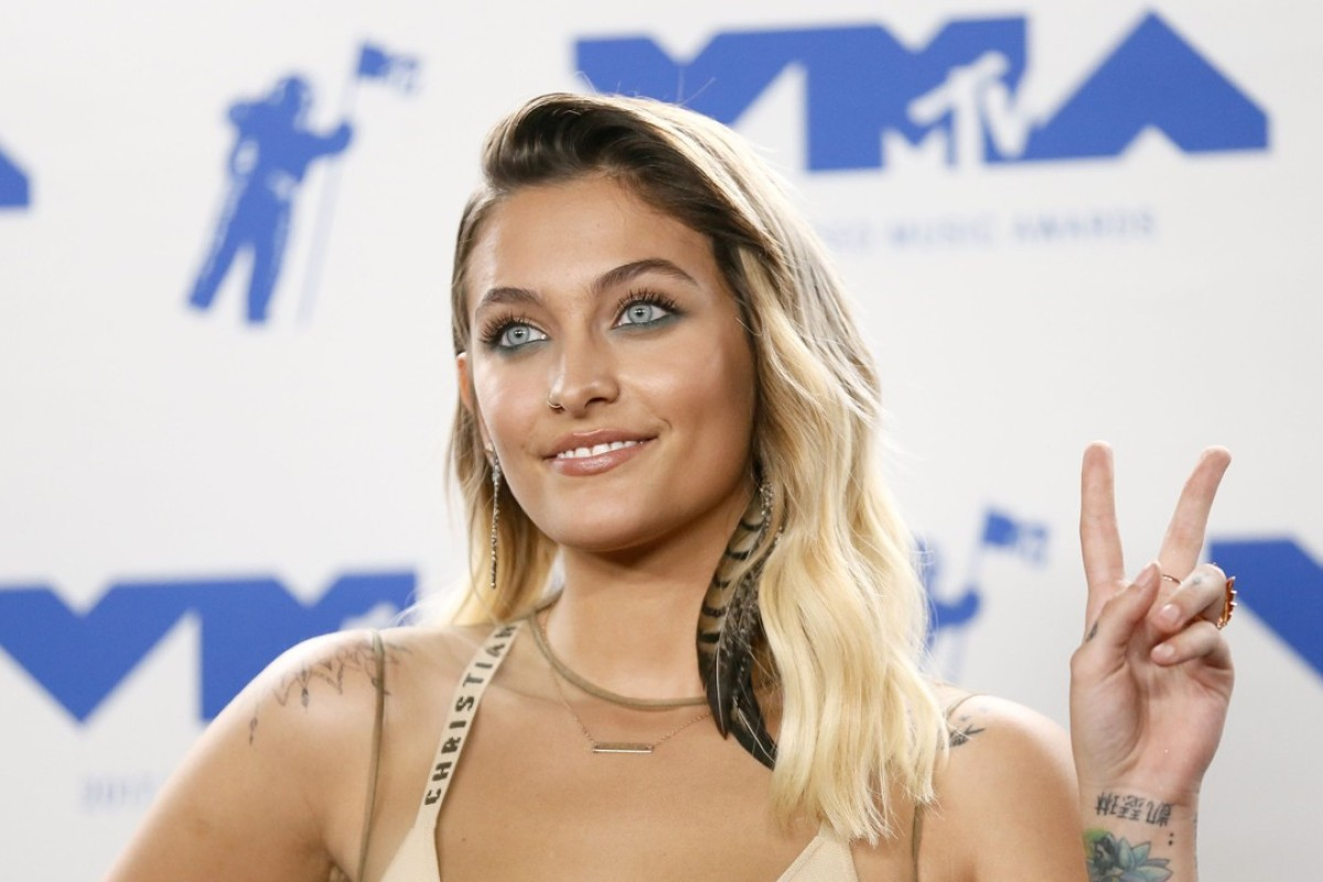 Paris Jackson arrives at the 2017 MTV Video Music Awards. Photo: REUTERS