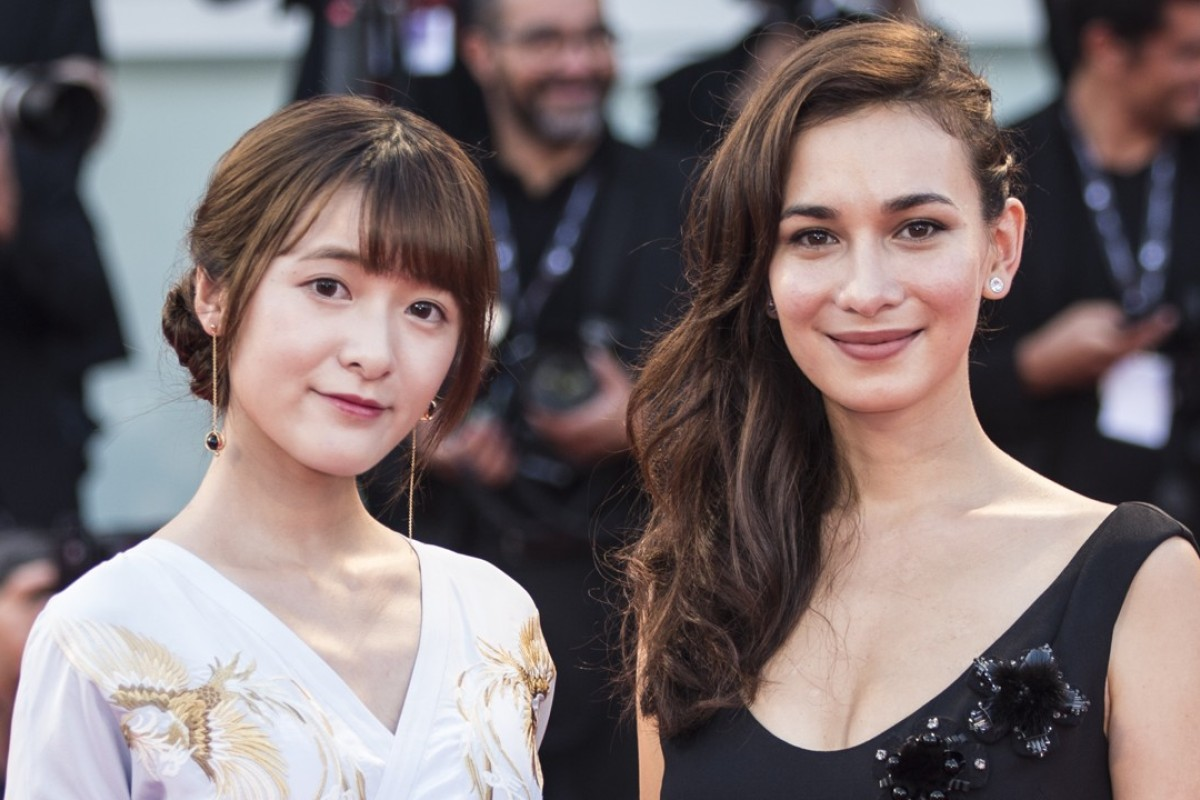Xu Jiao and Celina Jade arrive for the premiere of the movie 'The Shape of Water' at the 74th Venice Film Festival. Photo: Xinhua
