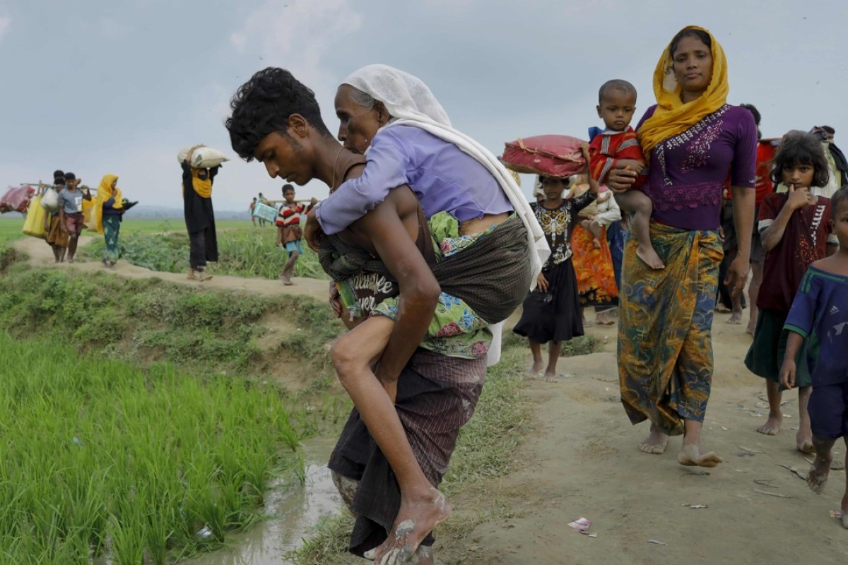 Rohingya refugees from Myanmar's Rakhine state arrive at the border with Bangladesh. Photo: AFP