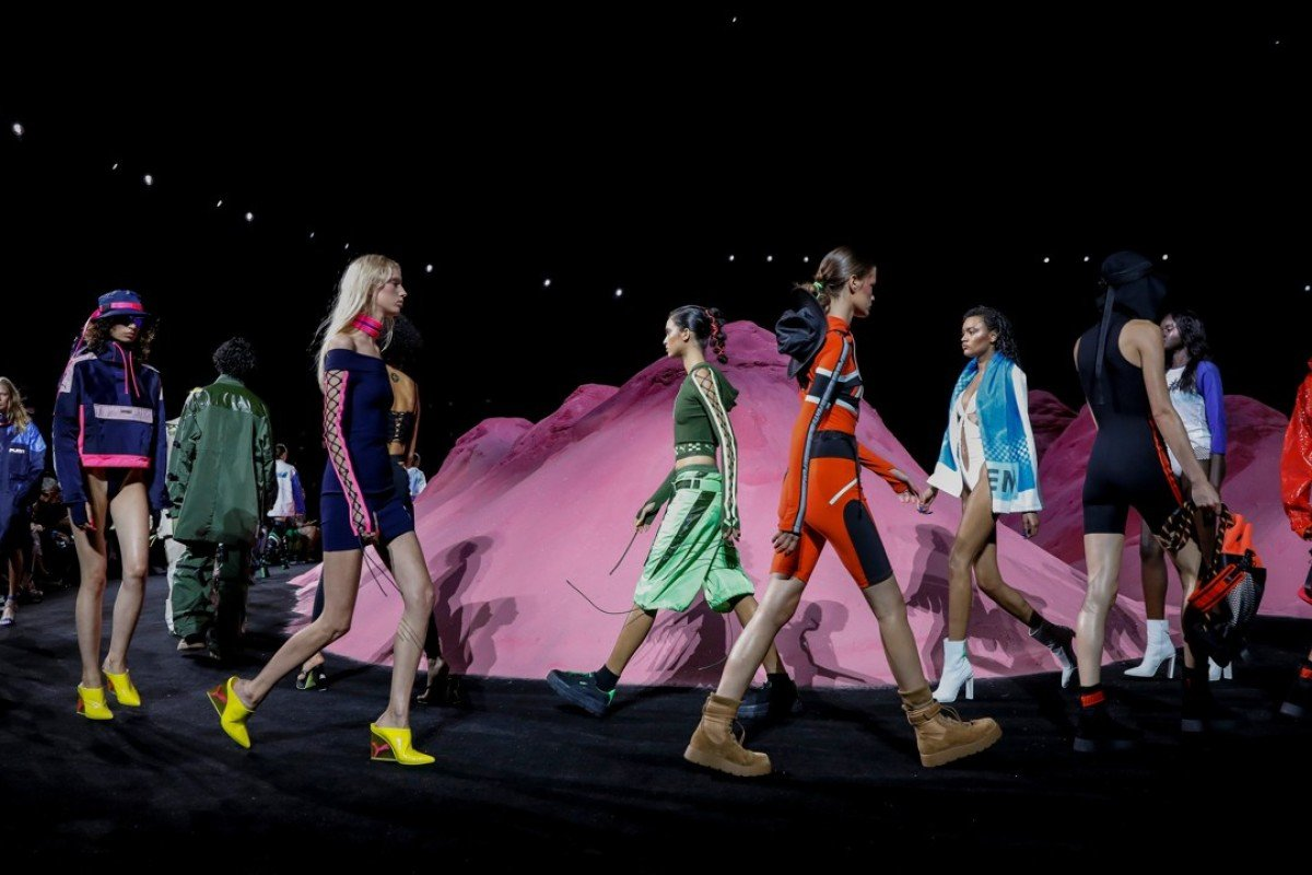 Models present creations from singer and designer Rihanna's Fenty for Puma spring/summer 2018 collection during New York Fashion Week. Photo: REUTERS