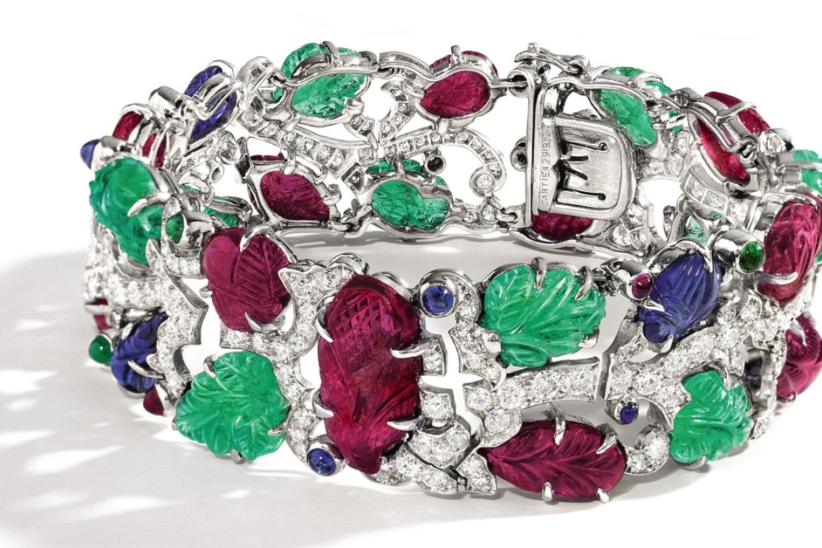 Cartier's art deco Tutti-Frutti' bracelet to go under the hammer at Sotheby's Hong Kong Magnificent Jewels and Jadeite Autumn Sale.