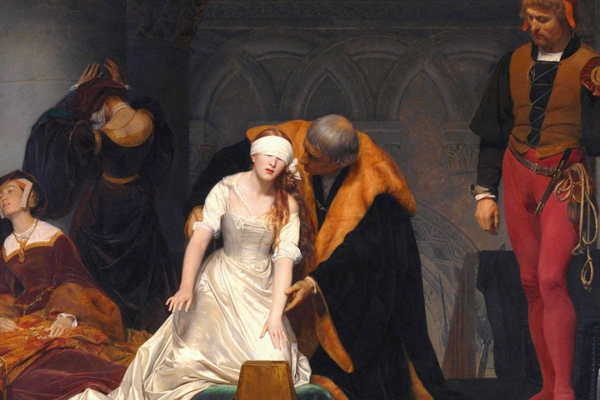 The Execution of Lady Jane Grey, an oil painting by Paul Delaroche. Picture: Alamy