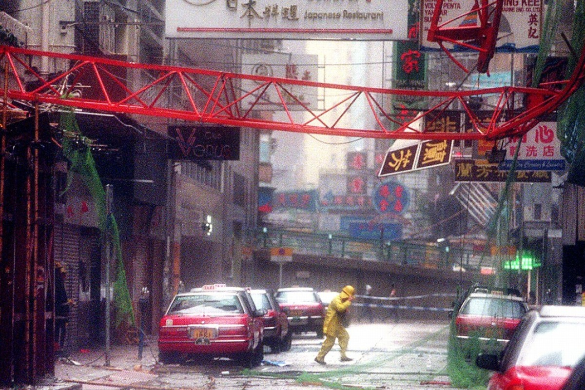 A Wan Chai street after Typhoon York hit Hong Kong in 1999. Picture: Martin Chan