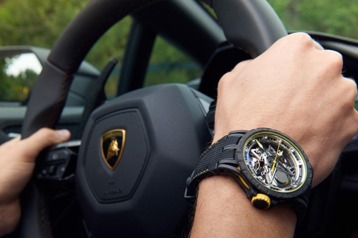 The Excalibur Aventador S features a new calibre inspired by Lamborghini's Aventador S engine and Huracán Super Trofeo EVO.