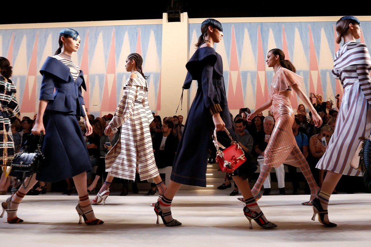 Models parade at the end of the Fendi spring/summer 2018 show during the Milan Fashion Week. Photo: REUTERS