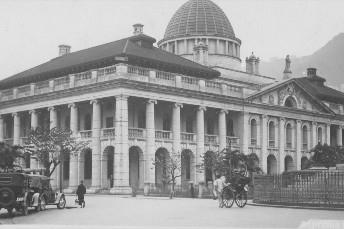 A postcard sent by the author's father, Thomas Edgar, in the late 1930s shows the Supreme Court Building, which would be used by the Kempeitai during the Japanese occupation.
