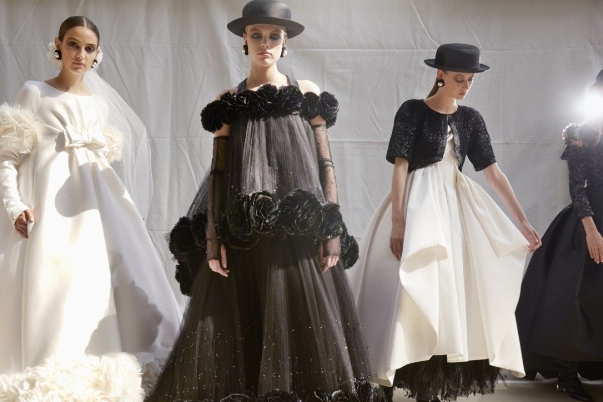 Flowers are a prominent feature in Chanel's haute couture autumn/winter 2017 collection.