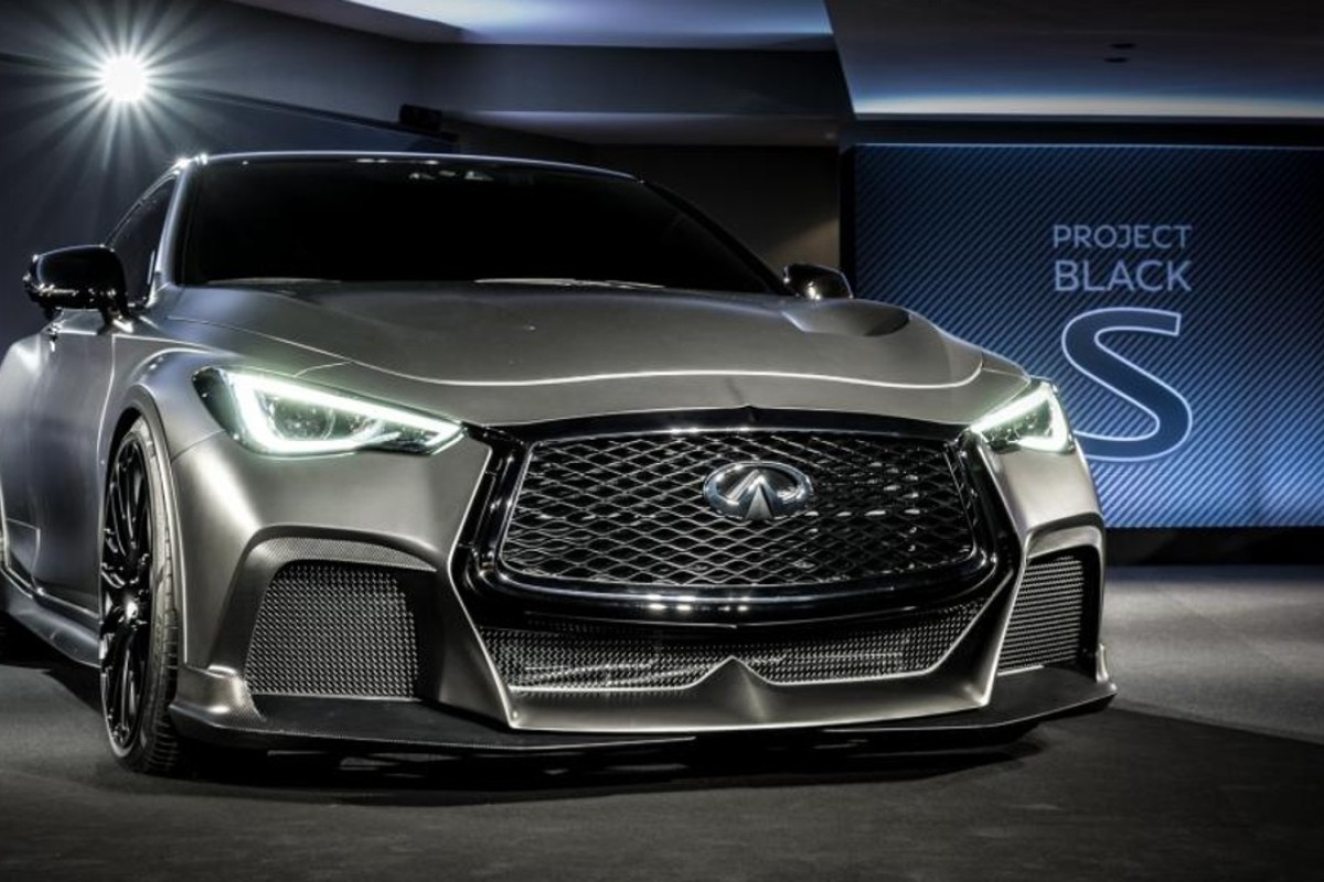 Infiniti's new concept car, Project Black S, which was on display at the Wan Chai showroom of luxury carmaker Infiniti.