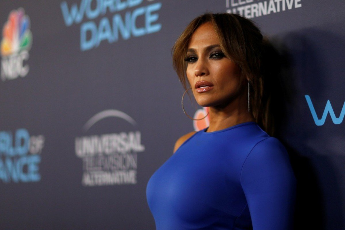 Jennifer Lopez poses at an event for the television series 'World of Dance'. Photo: REUTERS
