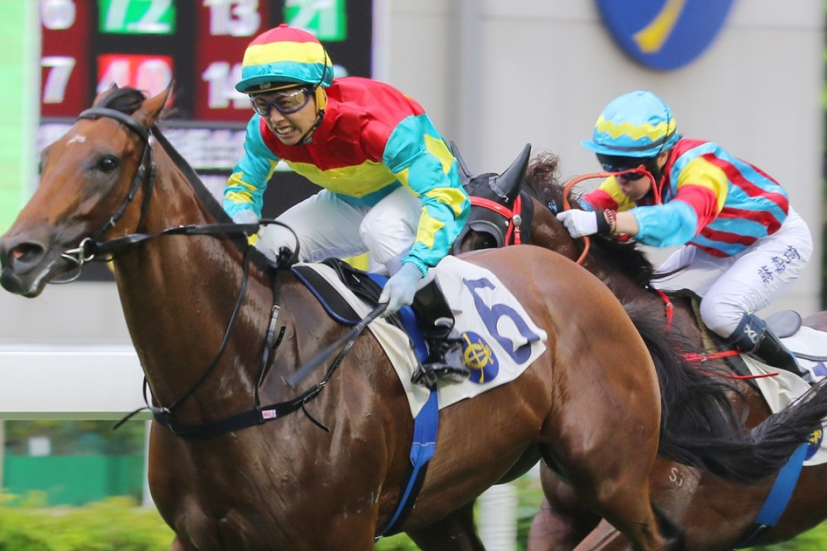 Matthew Poon guides Solar Hei Hei to victory at Sha Tin in July. Photos: Kenneth Chan