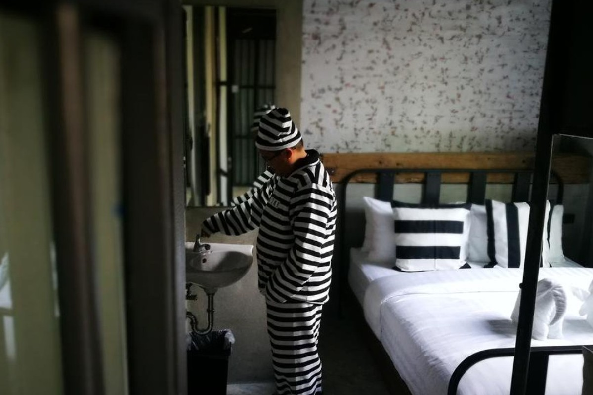 Sook Station, in Bangkok, is a prison-themed hotel opened by two fans of The Shawshank Redemption. Picture: Courtesy of Sook Station