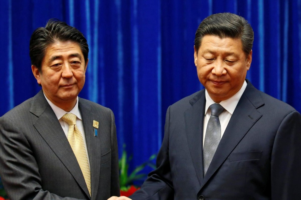 Japanese Prime Minister Shinzo Abe with Chinese President Xi Jinping. With an election victory on the cards, Abe will be focused on China relations. Photo: Reuters