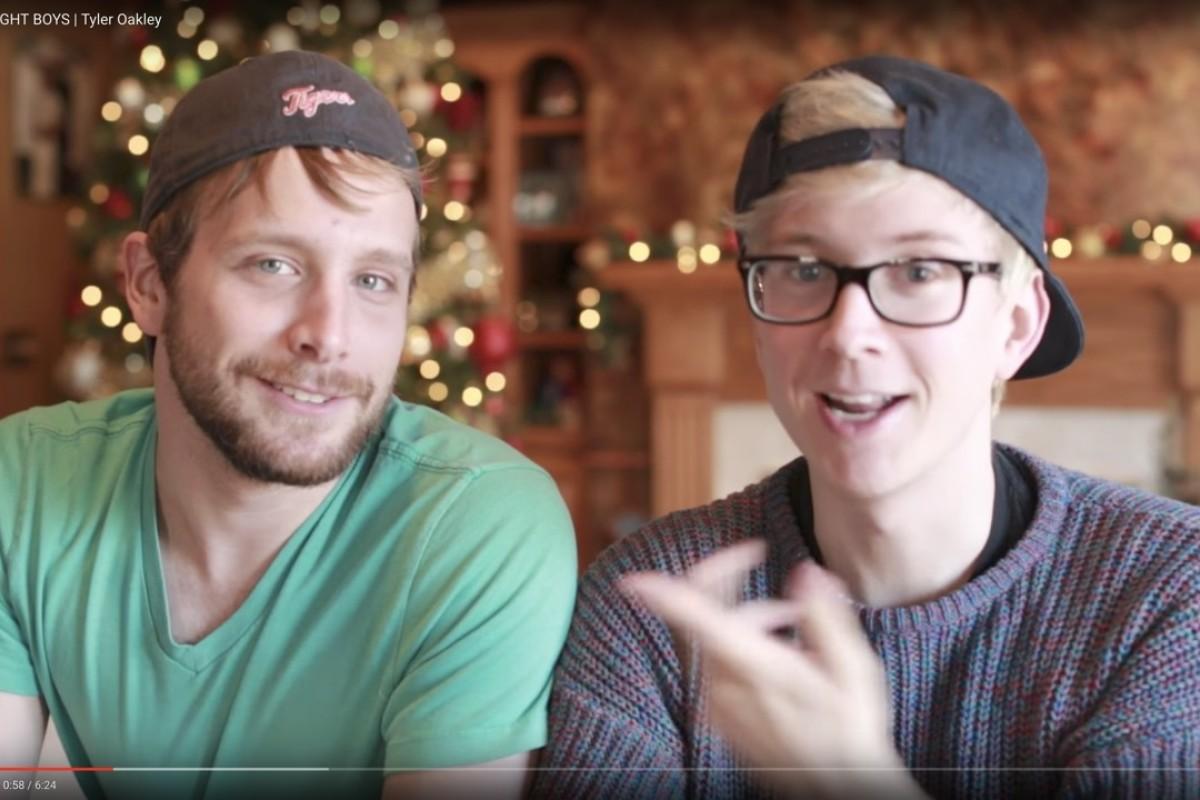 YouTuber Tyler Oakley (right).