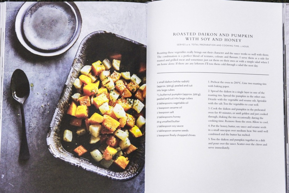 A recipe from On the Table At Home, a cookbook by model Danielle Peita Graham.