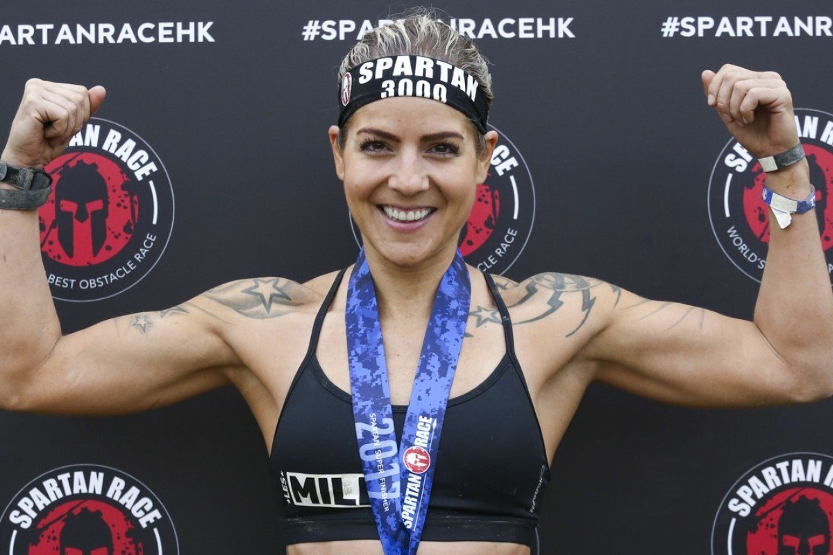 Switzerland's Magdalena Cvetkovic was the clear winner of the women's elite division at the Spartan Race. Photo: Jonathan Wong