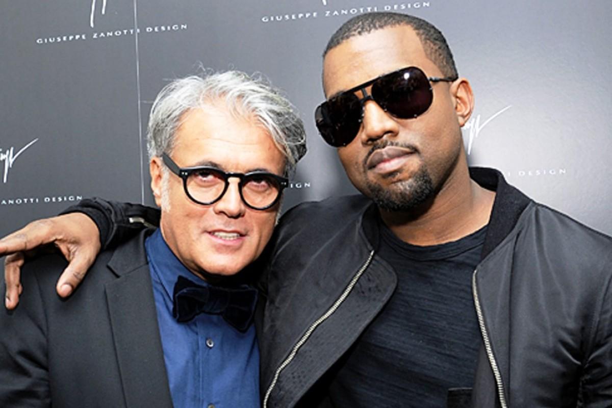 Giuseppe Zanotti and Kanye West.