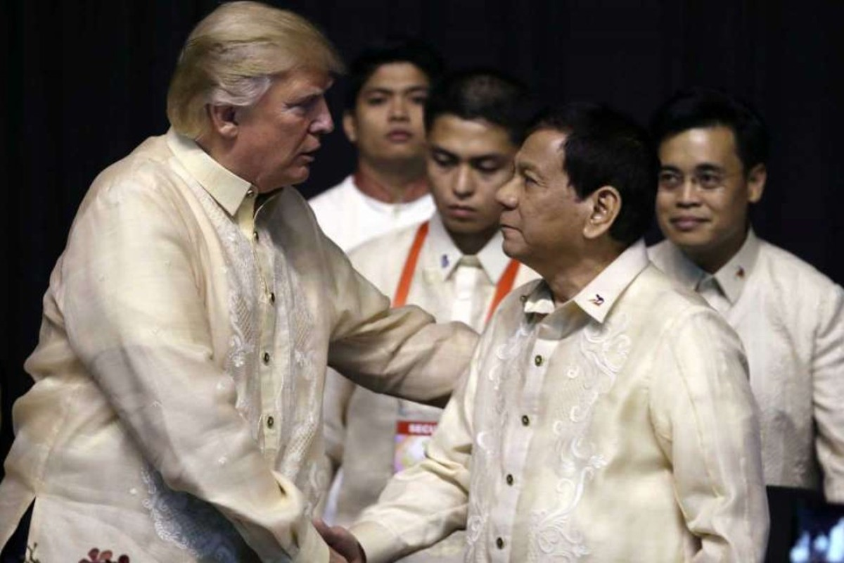 US President Donald Trump with Philippine President Rodrigo Duterte. Polls have been wrong both on the rise of the former and the continuing popularity of the latter. Photo: Reuters