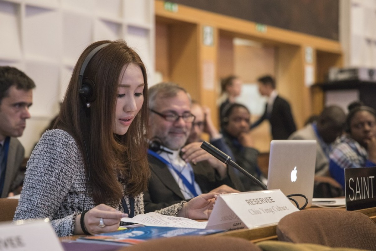 Sabrina Ho at the Unesco general conference on November 8, 2017. Picture: Conrado Dy-Liacco