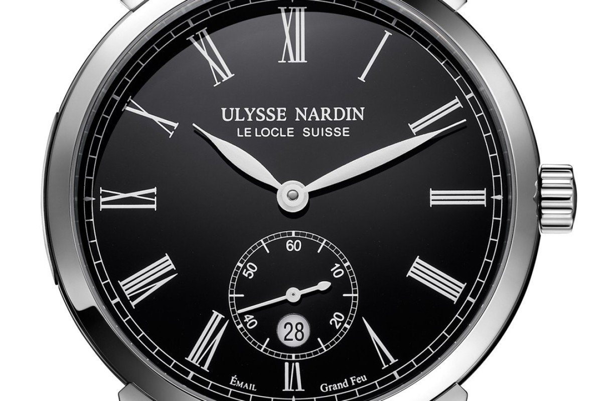 "Ulysse Nardin's Classico Manufacture ""Grand Feu"" uses an enamelling technique that gives the dial a glossy old-world look."