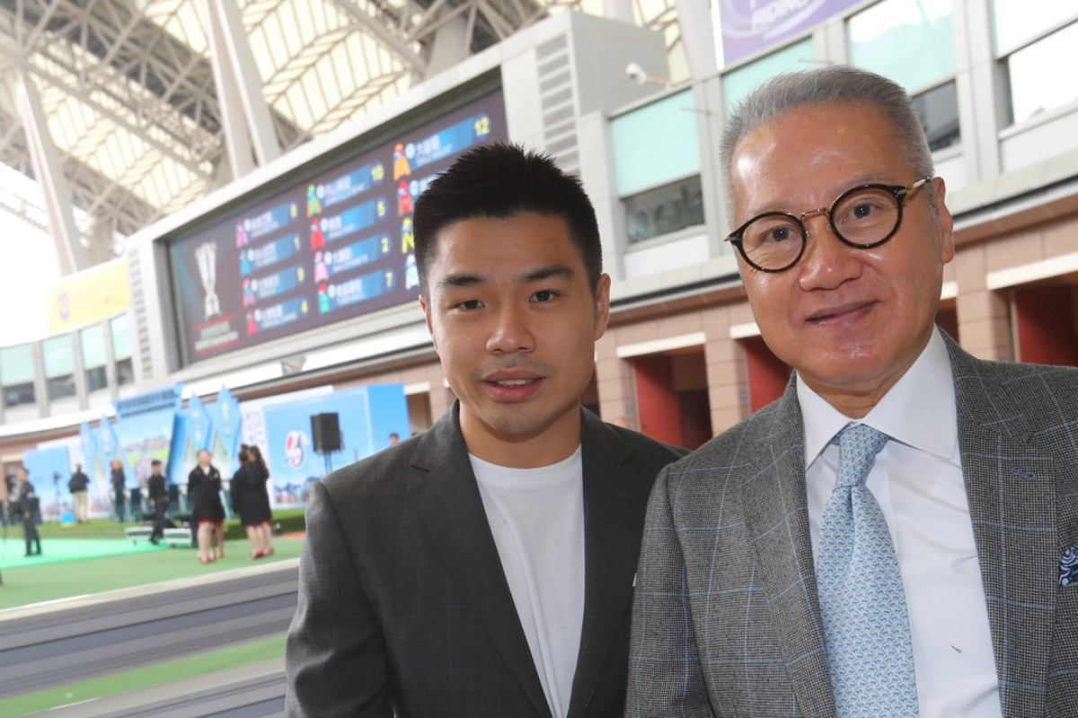 Patrick Kwok with father Simon Kwok at the HKIR barrier draw.