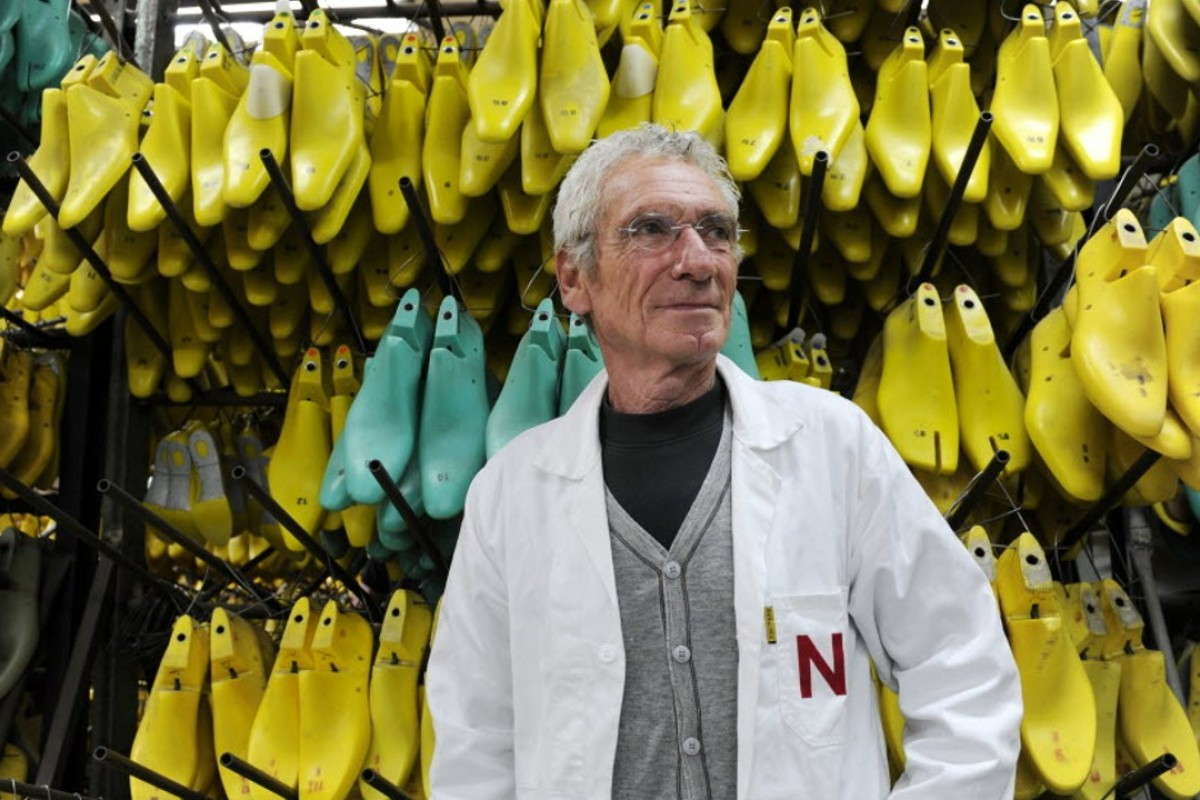 Robert Clergerie pictured in his shoe factory in France in 2010, two years before he finally retired. Photo: AFP