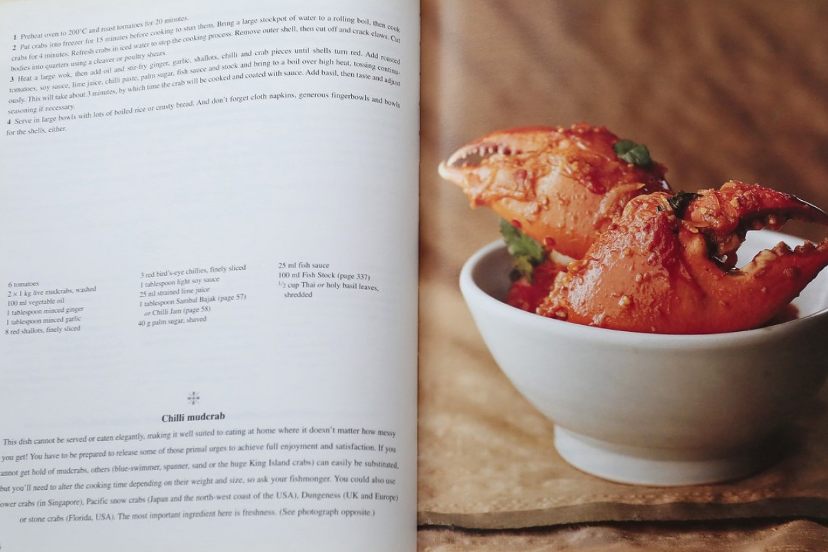 A recipe for chilli mudcrab from the Spice cookbook, by Christine Manfield.