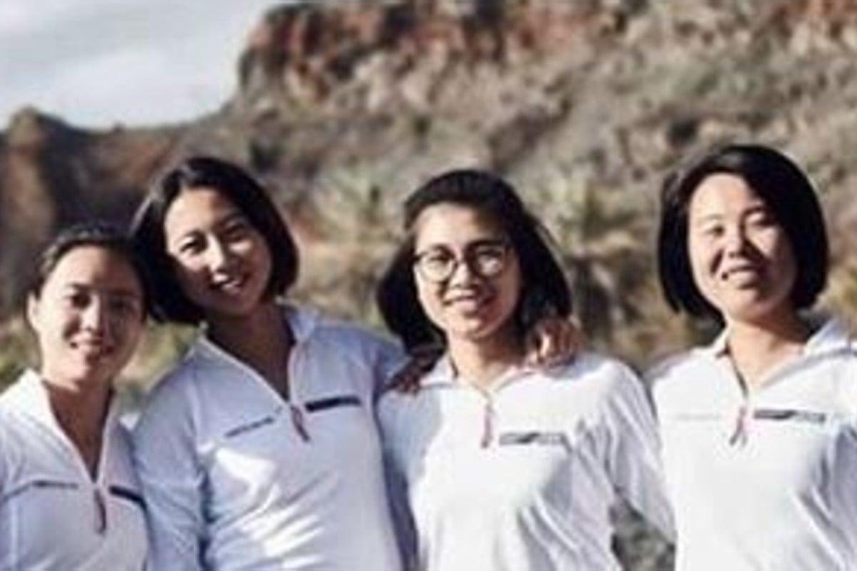 Cloris Chen Yuli, Amber Li Xioabing, Tian Liang Mintian and Sarah Meng Yajie the day before they embark on their epic journey. Photos: Sarah Meng Yajie Instagram