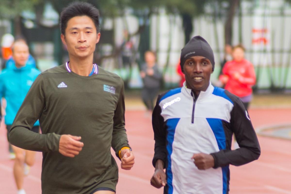 Lukas Wambua Muteti coaches in Hong Kong and Taipei. Photos: MIRARunners