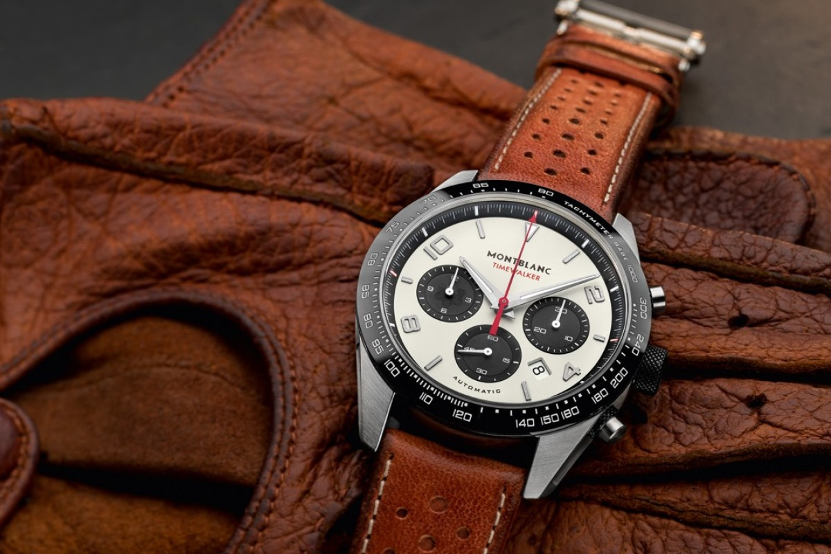 Montblanc's TimeWalker Manufacture Chronograph features a classic panda design.