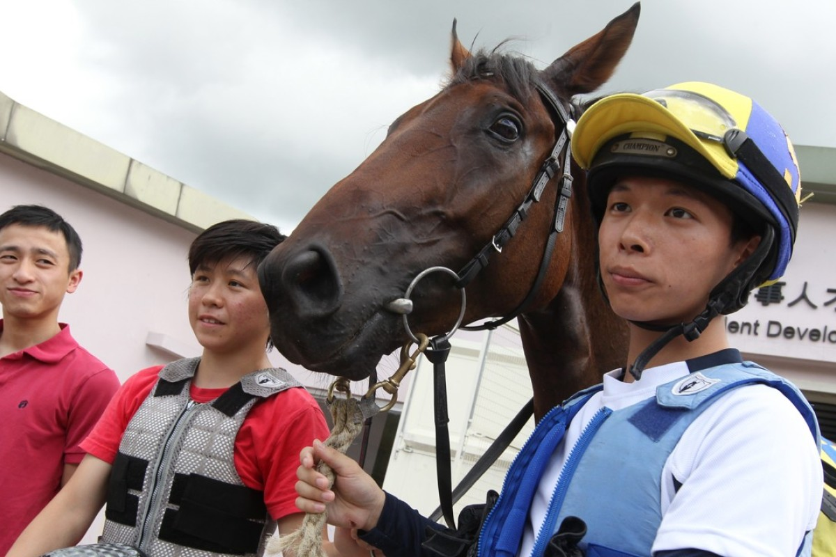 Victor Wong Chun pictured at Sha Tin as a Jockey Club trainee. Photo: Felix Wong