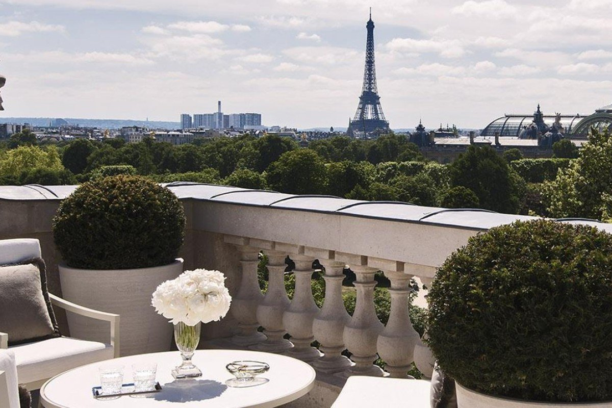 View From The Terrace. Photo: Hôtel De Crillon, A Rosewood Hotel