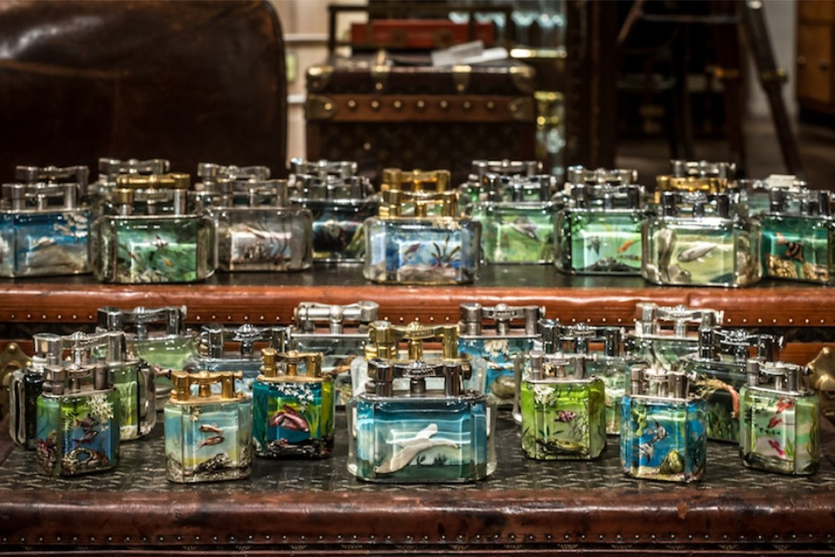 Timothy Oulton's Aquarium and Giant Aviary Dunhill lighters. The collection will be displayed exclusively at Harrods. Photo: Timothy Oulton