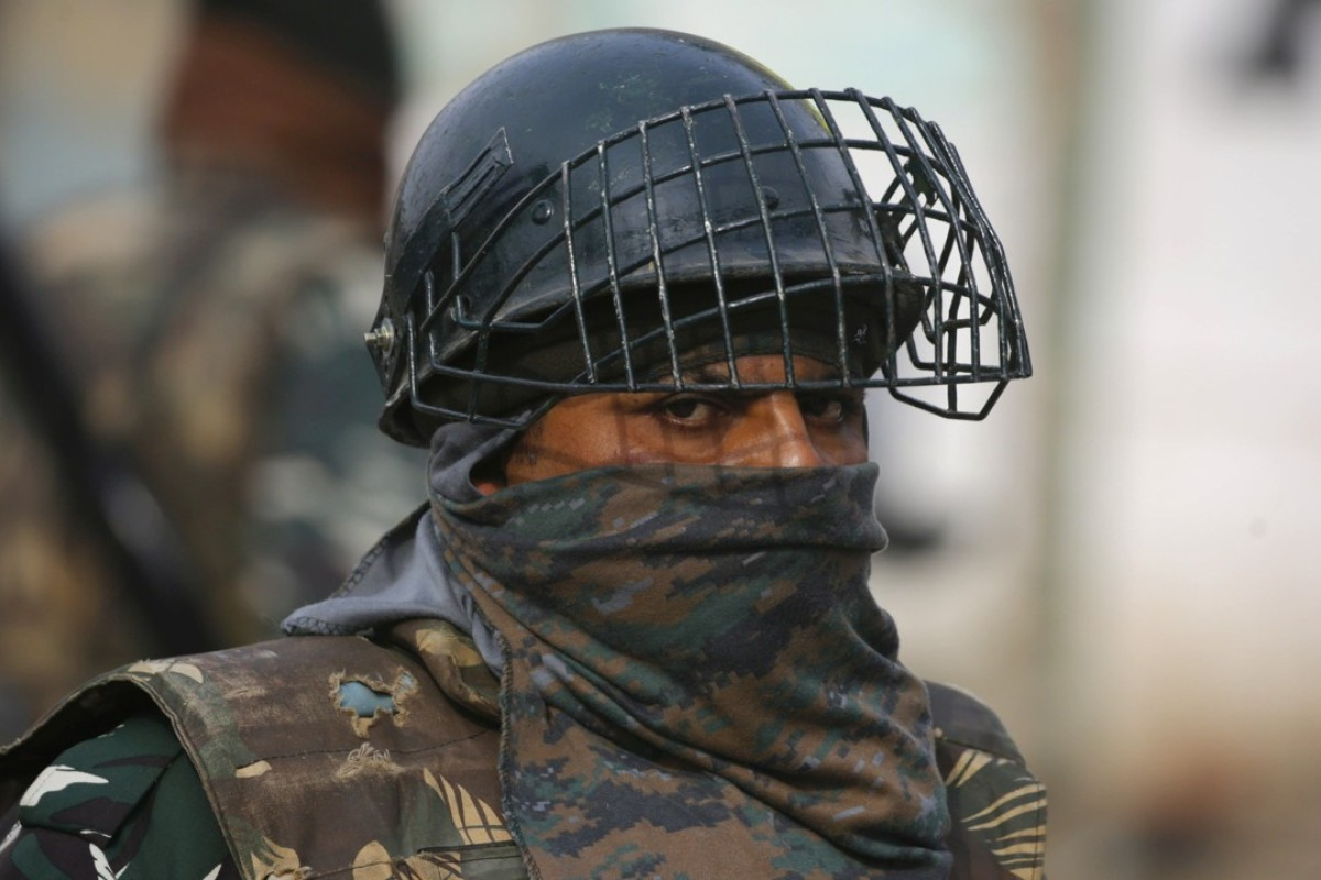 An Indian soldier in Srinagar, the summer capital of Indian Kashmir. Photo: EPA