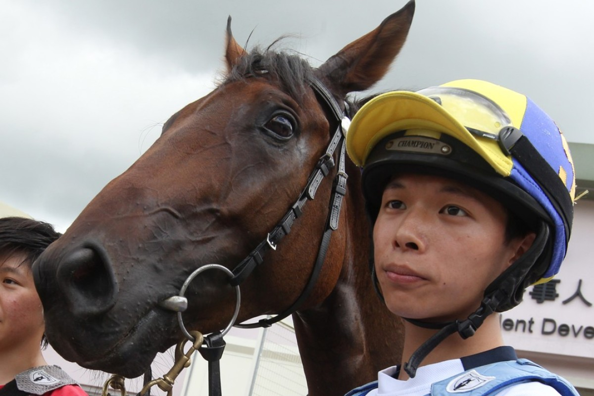 Victor Wong (right) will join the Hong Kong jockey ranks in March. Photo: Kenneth Chan