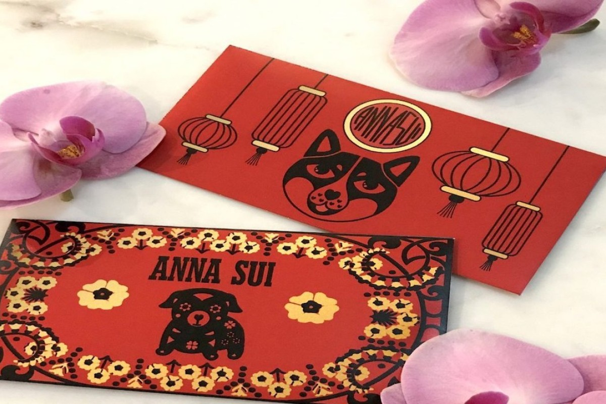 Anna Sui's red envelopes created for McDonald's. Photo: Anna Sui