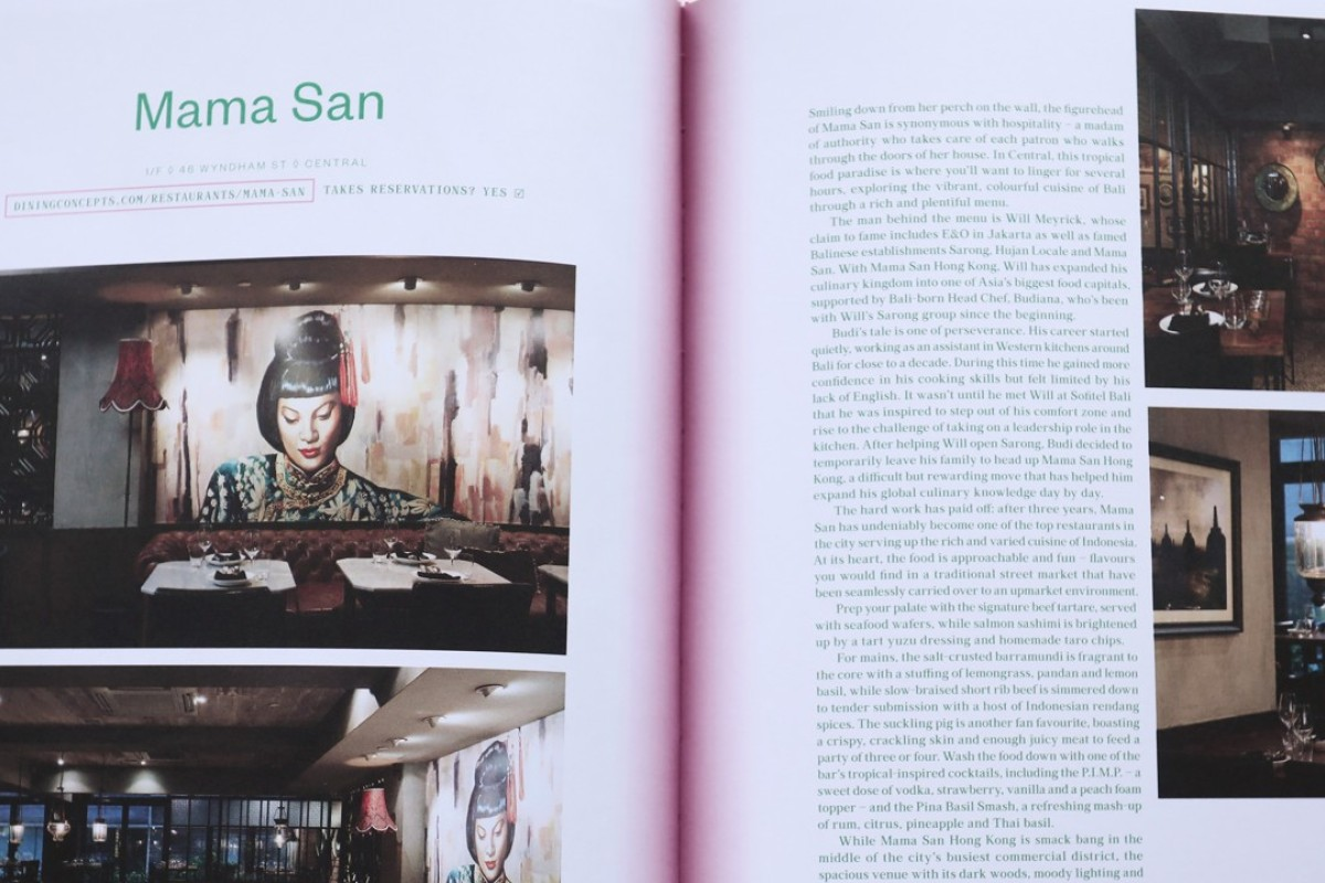 A recipe from Mama San, a restaurant in Central, is featured in Flavours of Hong Kong, by Leslie Yeh.