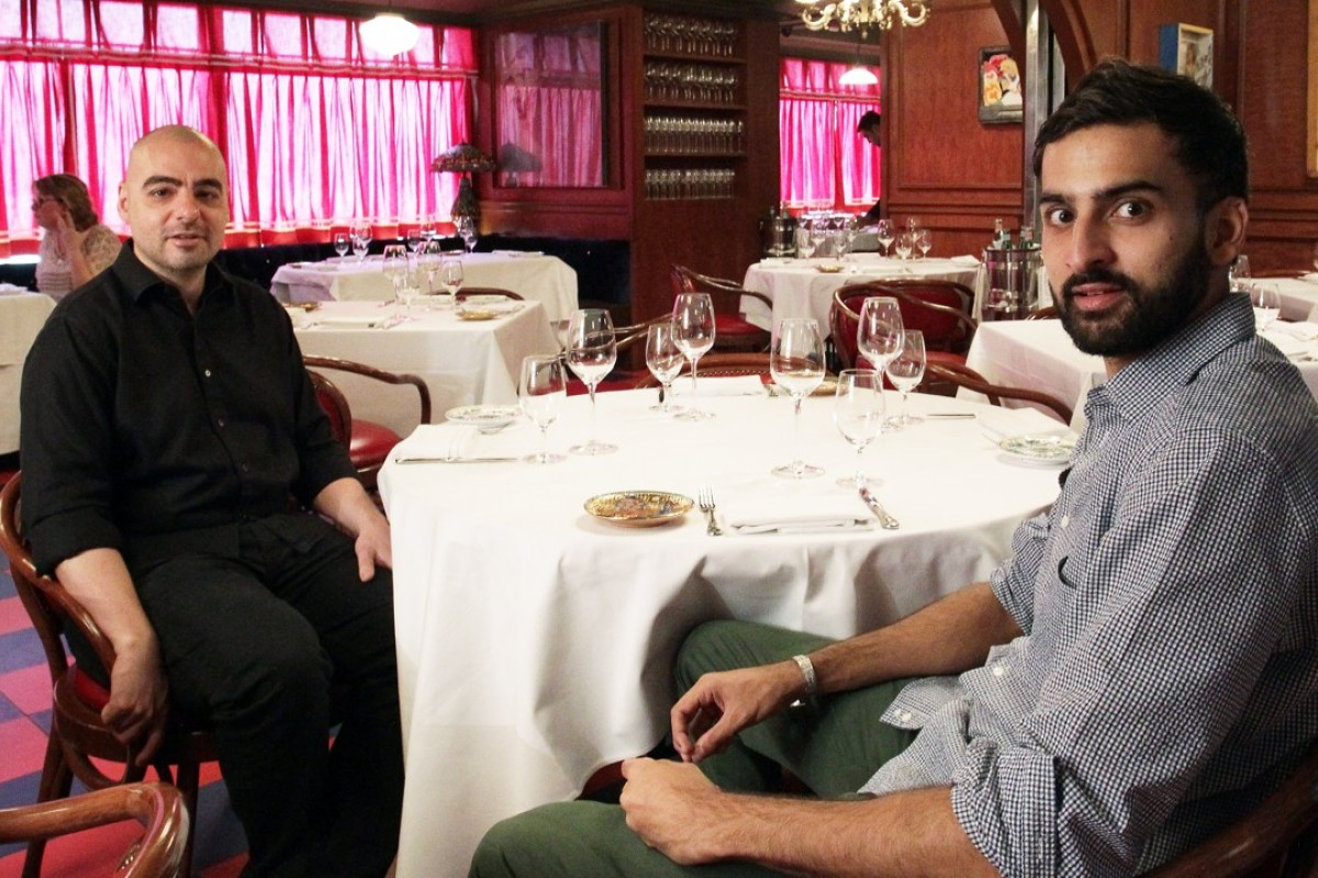 Christopher Mark (left) and Syed Asim Hussain, the co-founders of Black Sheep Restaurants, in New York-style Italian restaurant Carbone, on Wyndham Street, Central. Picture: Dickson Lee