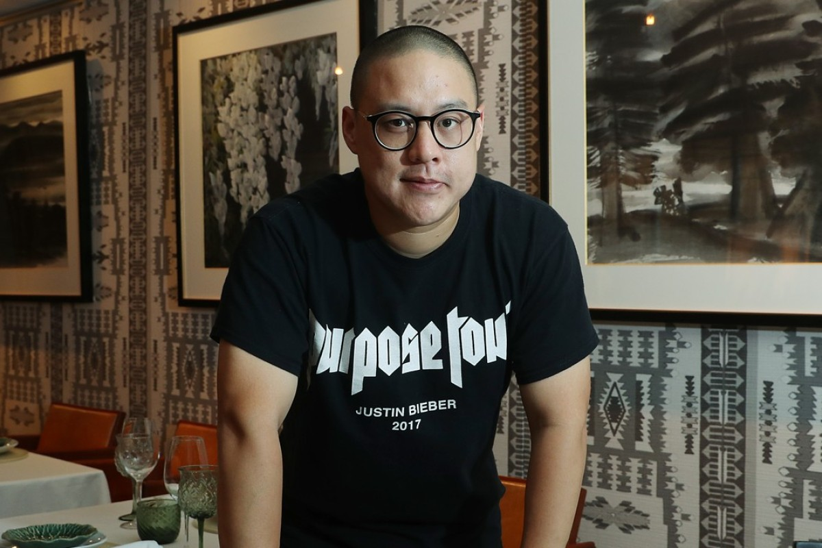Sydney chef Dan Hong at Duddell's, in Central. Picture: K.Y. Cheng