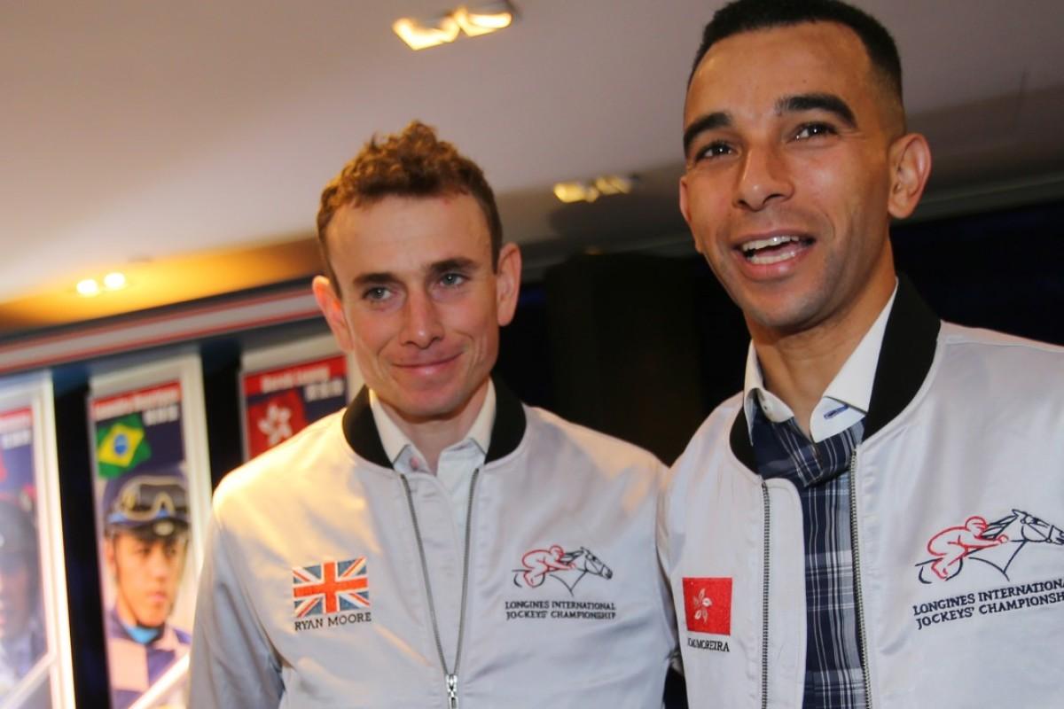 Jockeys Ryan Moore and Joao Moreira. Photos: Kenneth Chan.