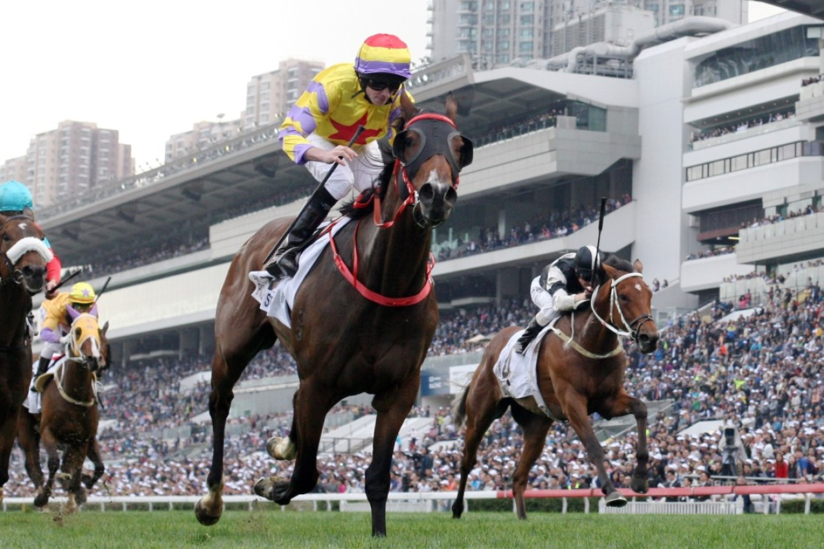 Ryan Moore boots home Ping Hai Star to claim the BMW Hong Kong Derby. Photos: Kenneth Chan