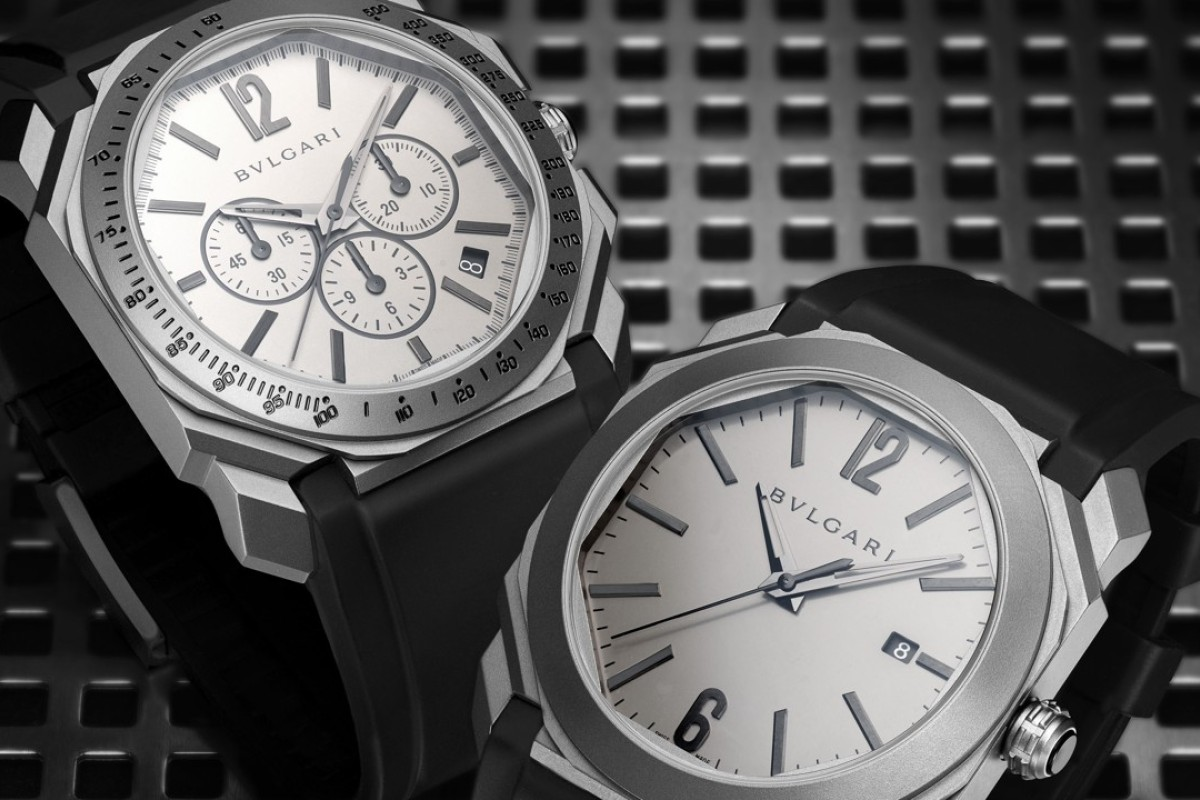 Bulgari's Octo L'Originale Chronograph (left) and three-hand Octo L'Originale in titanium are among the innovative designs featured at this year's Baselworld 2018 from March 22 to 27 in Switzerland,