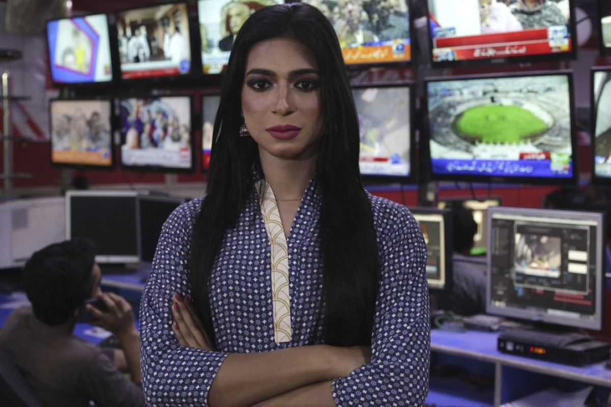 Pakistan's first transgender newsreader Marvia Malik. Photo: AP