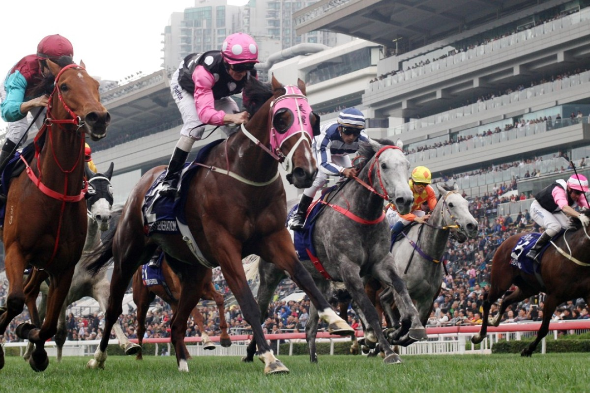 Beauty Generation (second from left) wins the Group One Queen's Silver Jubilee Cup. Photos: Kenneth Chan