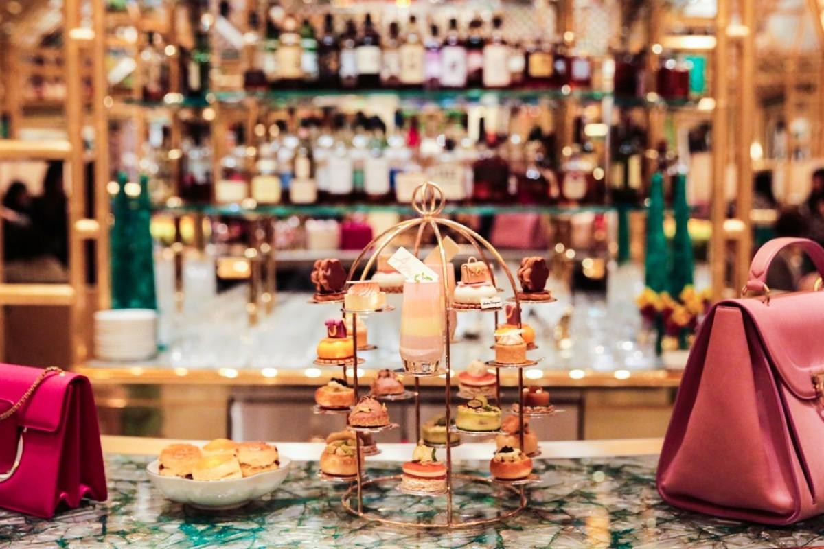 Salvatore Ferragamo x Wynn Palace limited-edition afternoon tea set. Photo: Aydee Tie