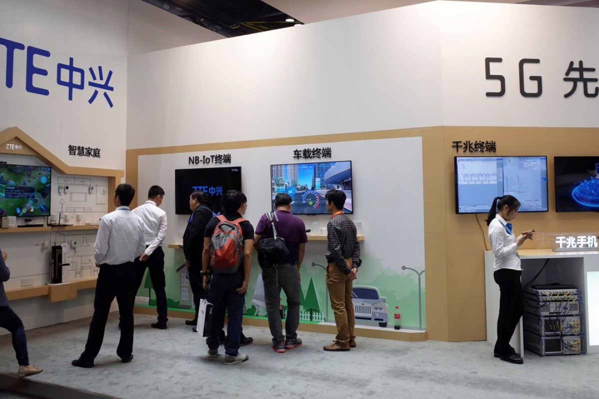 A ZTE booth at an expo in Beijing. Photo: Reuters