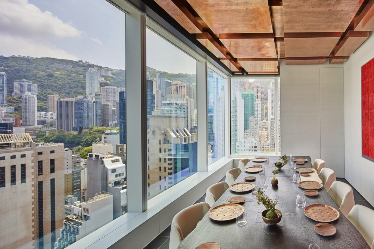 The private room at ECRITURE, one of three 'hot' new restaurants that have recently opened in Hong Kong.