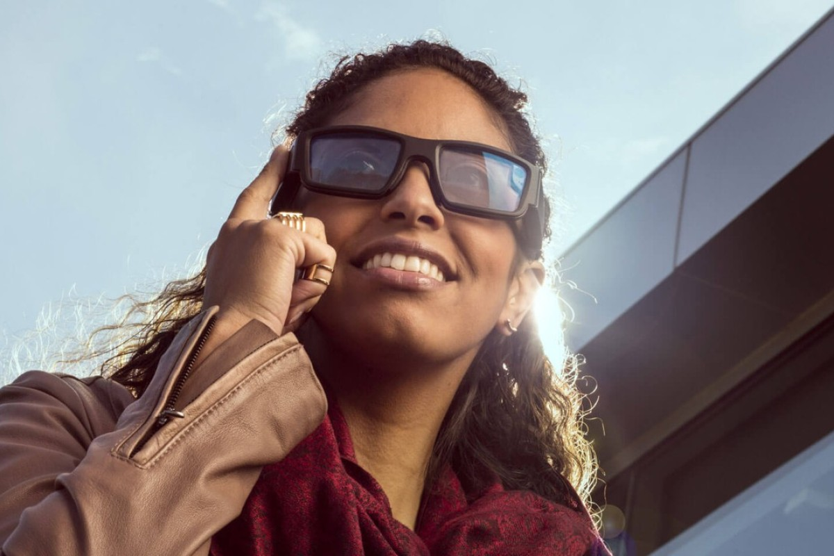 The Vuzix Blade smart glasses, made by US technology company, Vuzix, allow users to see anything they would see on their smartphone screen. Photo: Vuzix