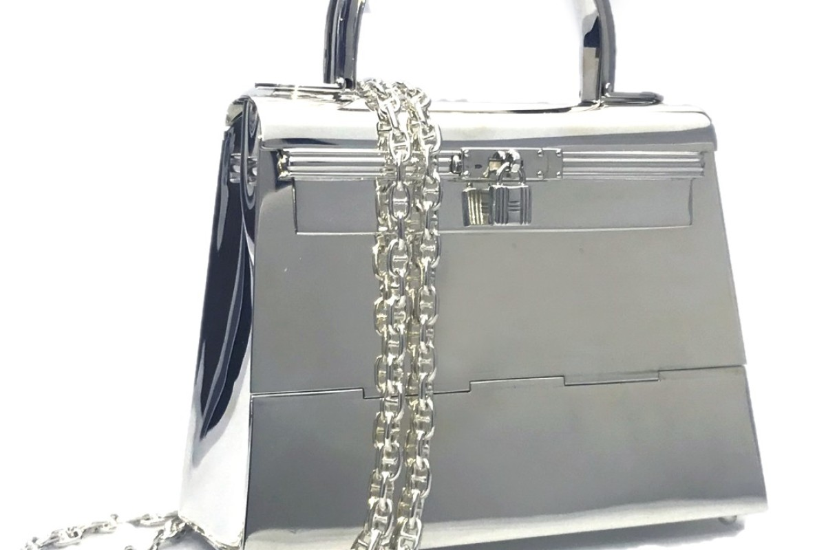 Hermès' Silver Mini Kelly bag. Photo: Spink