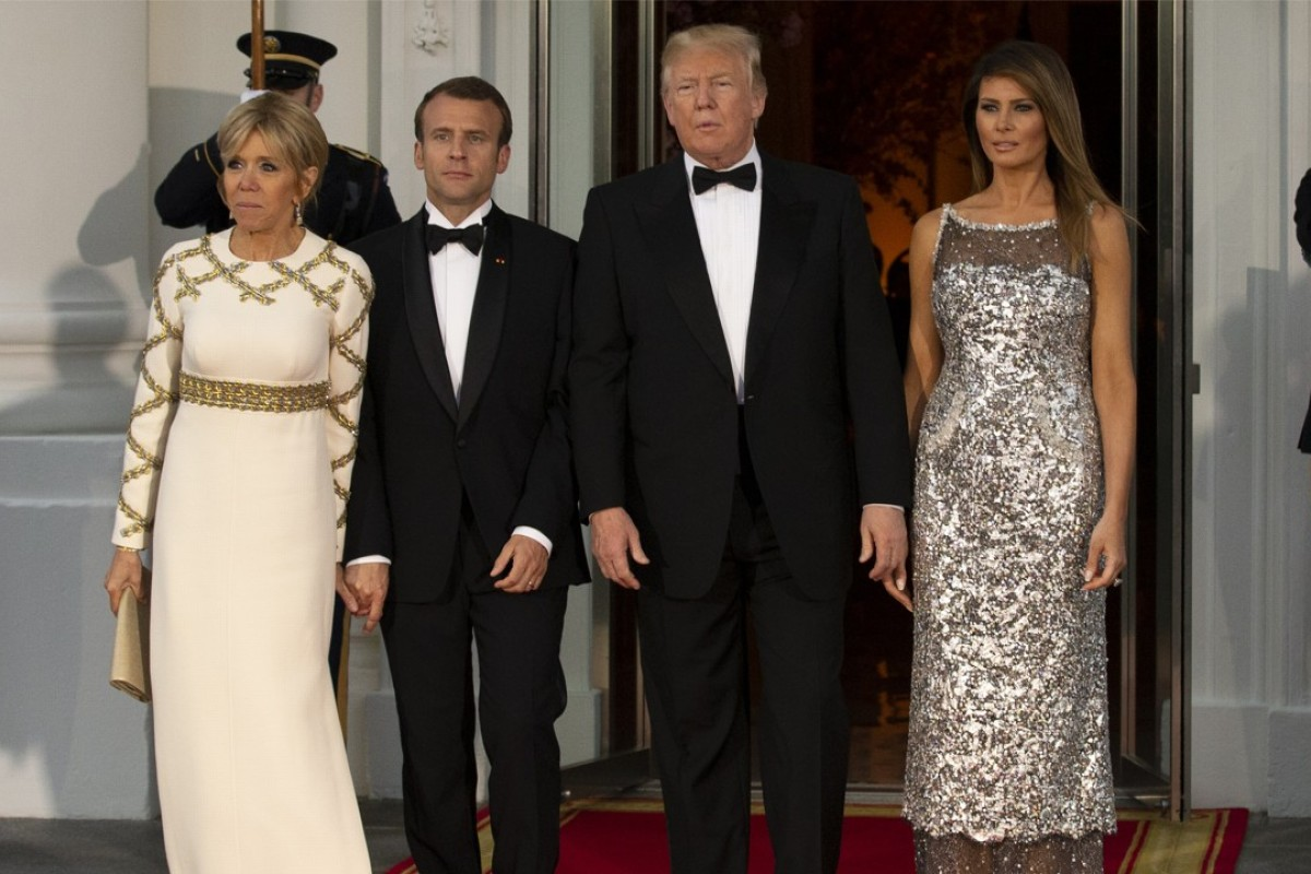 Melania Trumps Fashion Diplomacy Us First Lady Dazzles At State