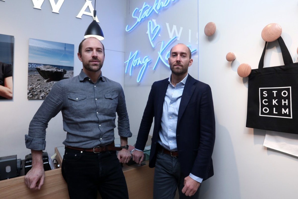 Harald (left) and Didrik Wachtmeister at the Triwa store in Diamond Hill, Hong Kong. Pictures: Jonathan Wong